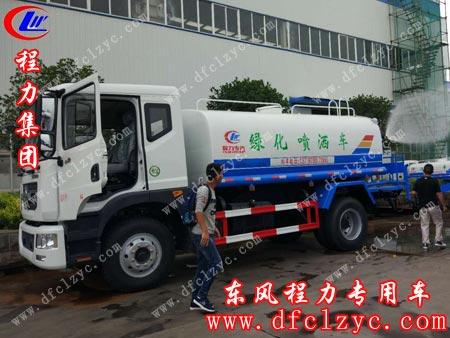 湖北程力东风多利卡D9洒水车正在试水