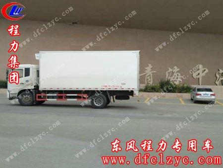 湖北程力集团东风天锦冷藏车在途中