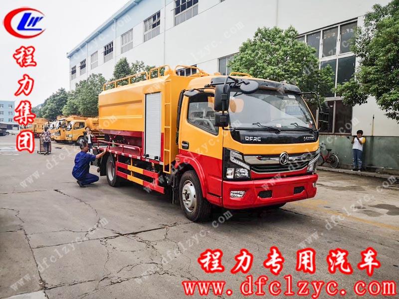 程力专用汽车股份有限公司生产的国六东风大多利卡清洗吸污车