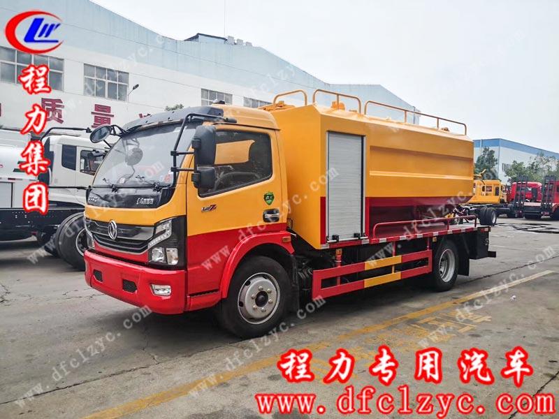 湖北程力生产的国六东风大多利卡清洗吸污车